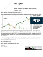 Trend Following Stocks-Market Trend Signal-Incyte Corporation INCY