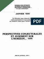 Perspectives Conjoncturales Jugements Horizon 1986