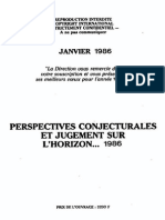Perspectives Conjoncturales Jugements Horizon 1986