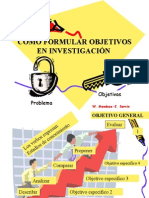 Cómo formular objetivos de investigacion