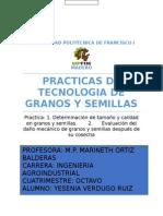 Practica Determinación de tamaño y calidad en granos y semillas