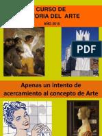 Concepto de Arte y Lenguajes Artisticos - IAVA 2015