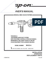 Snap-On  ALUMINUM WELDING Mhg5a Owners Manual