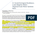 Social-Ecological Resilience. Water Governance. United States