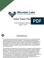 Mountain Lake Grants Presentation