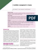 Airway and Ventilator Management in Trauma