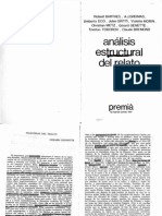 Análisis estructural del relato