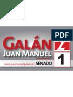 Afiche horizontal Senador Galán