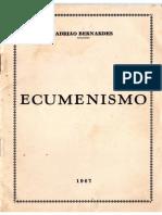 Adriao Bernardes Ecumenismo 1967