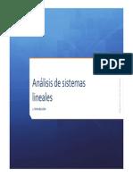Analisis de Sistemas Lineales