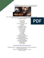 Hercules Soundtrack List