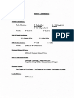 Survey Calculation Sheets