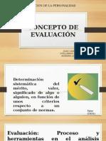 Concepto de Evaluación