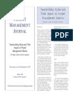 Project Maanagement Journal