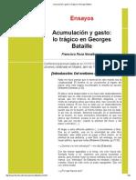 Acumulación y Gasto_ Lo Trágico en Georges Bataille