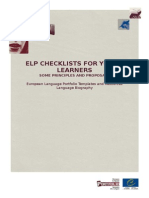 ELP Language Biography Checklists for Young Learners En