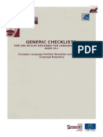 ELP Language Biography Generic Checklists En