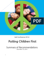 Putting Children First - Gall Conference 2014  Summary of Recommendations