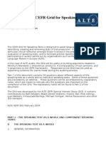 ALTE CEFR Speaking Grid Tests2014