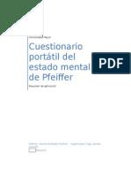Instrucciones Aplicacion Cuestionario Pfeiffer
