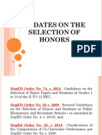 Selection of Honors by Sir Tex