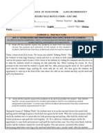 clinical expereicne observation field notes form