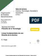 Kapp _ Líneas Fundamentales de Una Filosofía de La Técnica