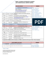 Kalendar Akademik Sesi 20142015 Mod Penyelidikan KL Campus 2