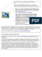 The 'Environmentally Educated Teacher'