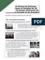 revue de presse de premièrede bastien et rémi du 25 au 31 janvier 2010