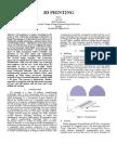IEEE Paper on 3d printing