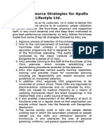 Human Resource Strategies for Apollo Health and Lifestyle Ltd