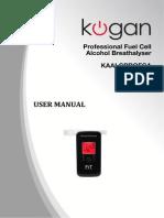 Breathalyser UserManual