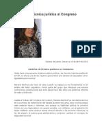 14.04.2015 Experta en técnica jurídica al Congreso