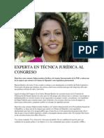 16.04.2015 EXPERTA EN TÉCNICA JURÍDICA AL CONGRESO