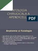Patologia Chirugicala a Apendicelui