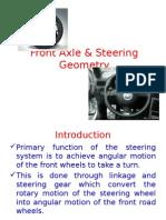 Front Axle _ Steering Geometry