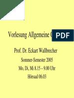 Allgemeine Geologie (gesamte Vorlesung)