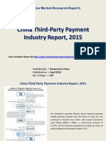 Third Party Payment Industry Analysis 2015 For China