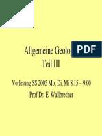 Allgemeine Geologie 3