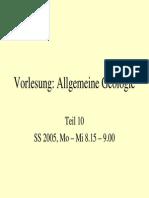 Allgemeine Geologie 10