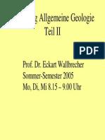 Allgemeine Geologie 2