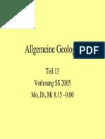 Allgemeine Geologie 13