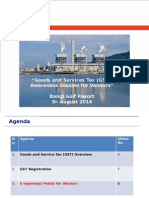 20140805 GST Awareness Session for Vendor BGR