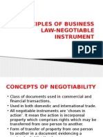 Principles of Business Law-negotiable Instrument