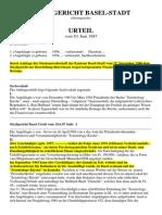 Strafgericht Basel Scientology-Wucher-Urteil Juni 1987