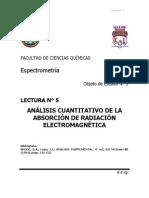 Analisis cuantitativo de la absorción de radiación electromagnética