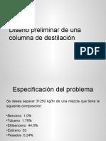 Diseño Preliminar de Columnas de Destilación