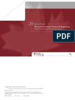 20 Questions About Government Financial Reporting Canada