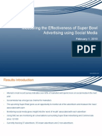 Super Bowl Social Media Results 1 Feb 10